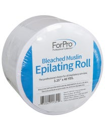 "ForPro Bleached Muslin Epilating Roll 3.25"" W x 40 Yds."