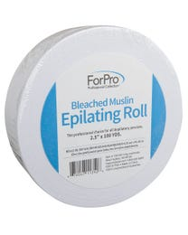 "ForPro Bleached Muslin Epilating Roll 2.5"" W x 100 Yds."