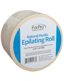 "ForPro Natural Muslin Epilating Roll 3.25"" W x 40 Yds."
