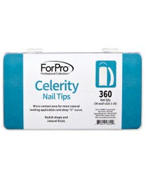ForPro Celerity Nail Tips 360-Count Tray (36 Each, Size 1-10)