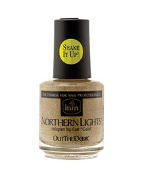 Northern Lights Hologram Top Coat Gold .5 oz.