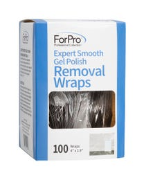 ForPro Expert Smooth Gel Polish Removal Wraps 100-Count
