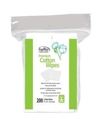 "ForPro Premium 100% Cotton Wipes 2"" x 2"" 200-Count"