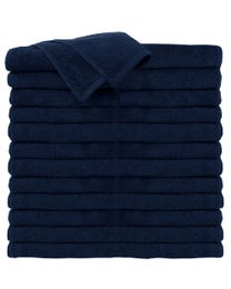 ForPro Premium 100% Cotton All-Purpose Towels Navy Blue 24-Count