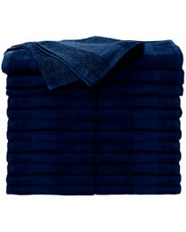 ForPro Premium Bleach Tough Salon Towels Navy Blue 24-Count