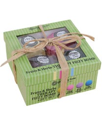 Ginger Lily Farms Botanicals Fruits & Herbs Therapy Fizzy Bomb Gift Set 4-Count
