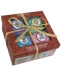 Ginger Lily Farms Botanicals Tuscan Therapy Fizzy Bomb Gift Set 4-Count