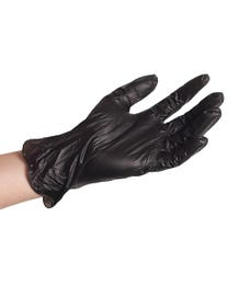 ForPro Black Powder-Free Vinyl Gloves Small 100-Count