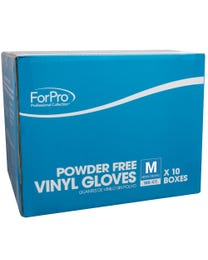 ForPro Clear Powder-Free Vinyl Gloves Medium 1000-Count (Case of 10 – 100 Vinyl Gloves)