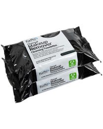 ForPro Charcoal Makeup Remover Cleansing Towelettes 50-Count (Pack of 2 – 25 Towelettes)