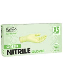 Green Nitrile Gloves Powder-Free 3 Mil. X-Small 100-Count