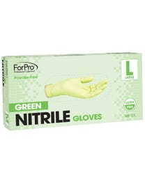 Green Nitrile Gloves Powder-Free 3 Mil. Large 100-Count