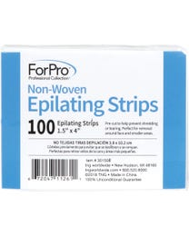 "ForPro Non-Woven Epilating Strips White 1.5"" W x 4"" L 100-Count"