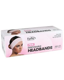 "ForPro Pink Disposable Headbands 2.25"" W x 25.5"" L 200-Count"