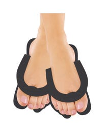 ForPro Fold-Up Pedi Slippers Black 360-Pair