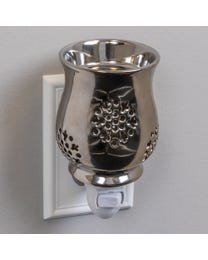Silver Moonlight Ceramic Plug-In Wax Melter & Essential Oil Diffuser