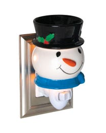 Jolly Snowman Ceramic Plug-In Wax Melter & Essential Oil Diffuser