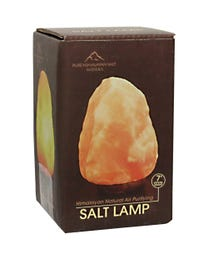 "Pure Himalayan Salt Works 100% Natural Himalayan Salt Lamp 7"" H"