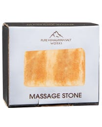 "Pure Himalayan Salt Works Rectangle Massage Stone 2.25"" W x 3.25"" H x 1"" D"