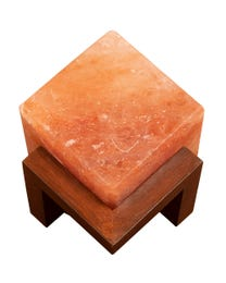"Pure Himalayan Salt Works Illumination Cube 6"" L x 6"" W x 7"" H"