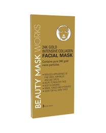 Beauty Mask Works 24K Gold Intensive Collagen Facial Mask 3-Count