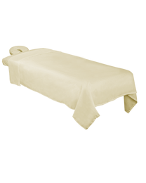 Poly-Cotton 3-Piece Massage Sheet Set Natural