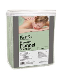 Premium Flannel 3-Piece Massage Sheet Set Sage