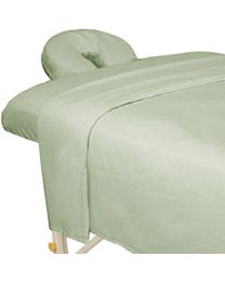 ForPro Premium Flannel Sheet 3-Piece Set, Sage