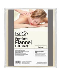 ForPro Premium Flannel Flat Sheet, Natural