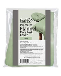 ForPro Premium Flannel Face Rest Cover Sage