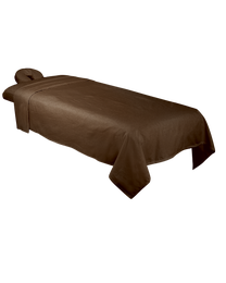 ForPro Premium Flannel Sheet 3-Piece Set, Chocolate