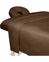 Premium Flannel 3-Piece Massage Sheet Set Chocolate