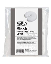 ForPro Blissful Fitted Massage Face Rest Cover Dreamy White