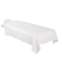 ForPro Premium Microfiber 3-Piece Massage Sheet Set, White