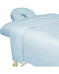 Premium Flannel 3-Piece Massage Sheet Set Powder Blue