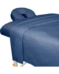 Premium Flannel 3-Piece Massage Sheet Set Ocean Blue