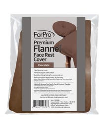 ForPro Premium Flannel Face Rest Cover Chocolate