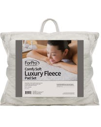 ForPro Comfy Soft Luxury Fleece Massage Pad Set