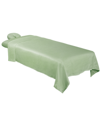 ForPro Premium Microfiber 3-Piece Massage Sheet Set, Sage