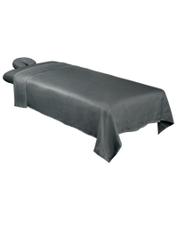 ForPro Premium Microfiber 3-Piece Massage Sheet Set, Cool Grey