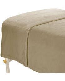 ForPro Microfiber Plush Blanket Natural