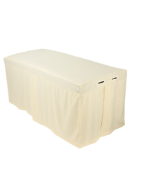 ForPro Premium Table Skirt, Natural