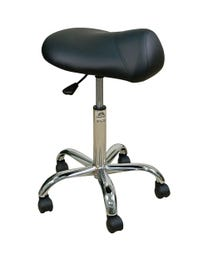 Stool Premium w/Saddle Blk Base 19-25