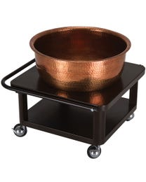 Copper Bowl Roll-up Foot Bath