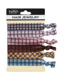ForPro Hair Jewelry Plaid Prints  6-Count