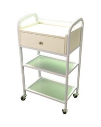 Triple Shelf Cart with Drawer