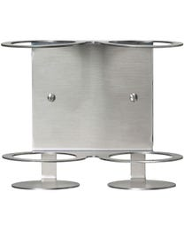 Stainless Steel Wall-Mounted Dispenser Holder Bracket  Aluminum/Cosmo Double Tamper Resistant 8 oz.